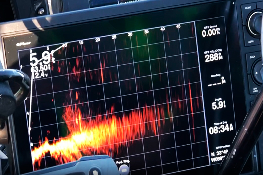The new Garmin Panoptix Live Scope has provided an anglers dramatic new information on exactly how close you can approach crappie without spooking them.