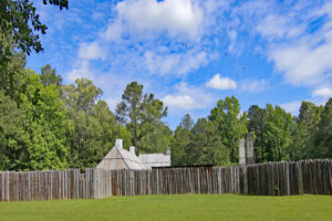 Fort Toulouse was a French supply and trading spot in the mid-1700's. This large fort includes buildings, kiln, canon and other points of interest. The park also includes indian houses, American Fort Jackson, visitors center, hiking trails and fishing.