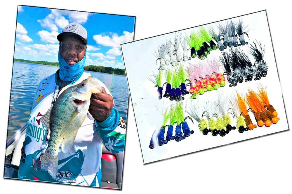 Kim Burnett is known for the colorful hair jigs he ties and sells through his Crappie Stopper Co.