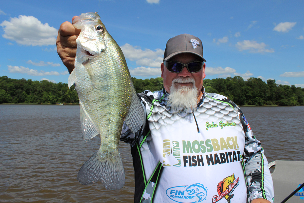 John Godwin's face and name were very well known at the peak of Duck Dynasty TV show. The show might be over, but Godwin is using his fame to promote crappie fishing across the country. (Photo: Richard Simms)
